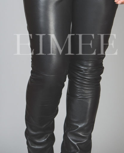 Stilvolle Damenhose Lammnappa Detailansicht