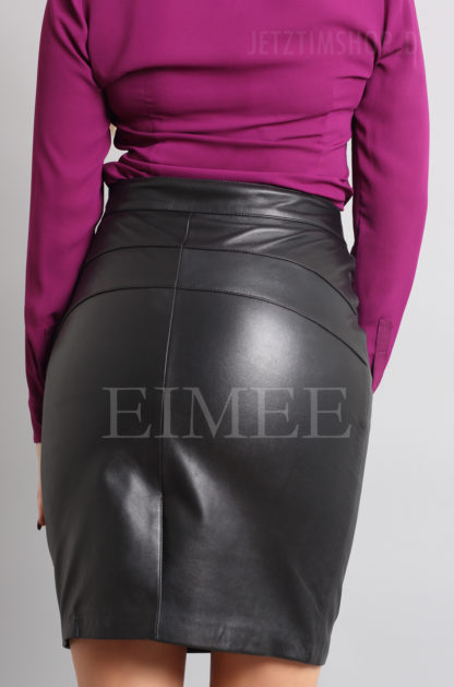 Lederrock elegant schwarz 3