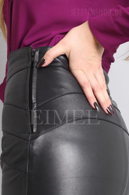 Lederrock elegant schwarz 4