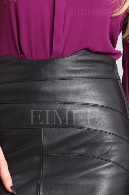 Lederrock elegant schwarz 5