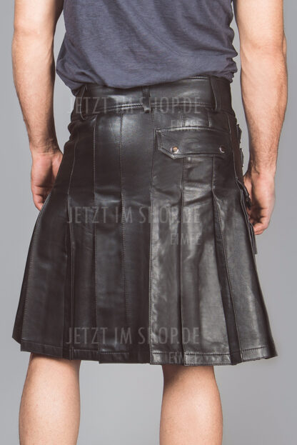 Schottenrock aus ECHT-Leder für Herren 2